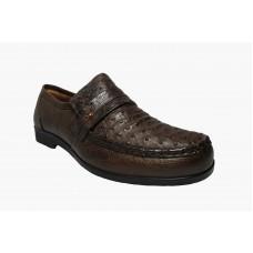 Sapato Masculino Opananken em Couro de Avestruz Cheio OP69103