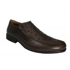 Sapato Masculino Opananken Couro de Avestruz Tabaco OP 57109