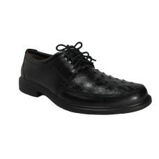 Sapato Masculino Opanaken Couro de Avestruz Preto